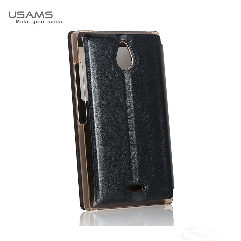 Usams Nokia X2 Flip Stand Case Cover Luxury Pu Leather