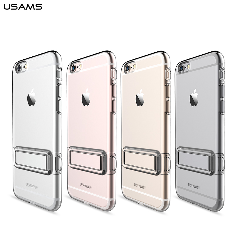 USAMS Bright Series Mew Clear Tpu Metal Stand case for ...