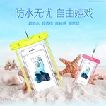 The waterproof Bag With light For Mobile Phones Underwater Pouch Case For Phone 5.5 Inch