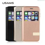 iPhone 6S Plus Muge Series Case Cover Flip Stand High Quality Top Leather PU Case With Window