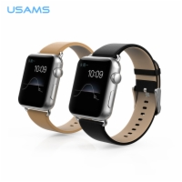 For Apple Watch Genuine leather Watch Band With Connection adapter Clip With Aluminium Connector 38mm
