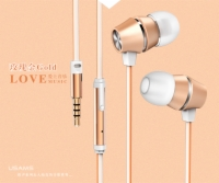 Supplier Hot Sell New Fasion Design Tenna Serise with Mic Stereo Earphone Mensa Series