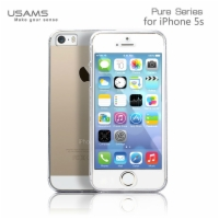 Apple iPhone5S iPhone5 Hot Selling Transparent Back PC Case Front Cover 2 In 1 360 Degree Protection Pure Series
