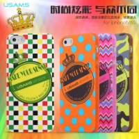 Apple iPhone5S iPhone5 Case Cover Night Light And Perfume Printing Cell Soft TPU Phone Case Crown Series