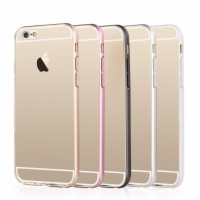 Apple iPhone 6 PC Back Cover Case + Frame TPU Ultra Thin Soft Transparent Slim Series