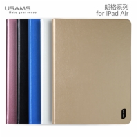 Apple New iPad Air 360 Degree Rotatable Luxury Leather Flip Stand Smart Case Cover Lange Series