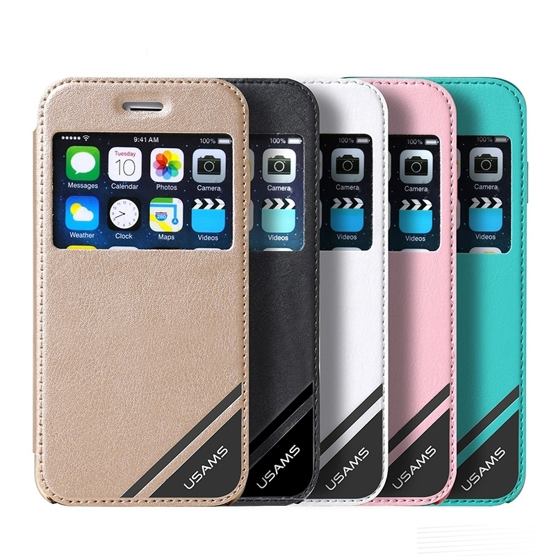 low priced 0b056 6c0fc Apple iPhone 6 Plus 5.5 Inch Case Cover Flip Stand Luxury PU Leather With  Window Fashion Case Viva Series Purchased