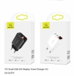 US-CC073 T17 Dual USB LED Display Travel Charger (EU)