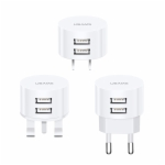 Travel Charger US-CC079/US-CC080/US-CC081 T20 Dual USB Round US/EU/UK