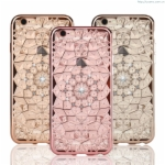 Bling Bling Cover Grace Series iPhone 6S 6 Plus Cover Case Silicon TPU Soft Crystal Diamond Case for iPhone 6S Plus