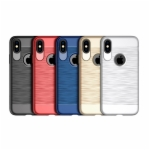 iPhone X Back Case LAVAN SERIES TPU Case Brushed Metal