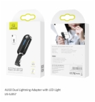 Dual Lightning Adapter US-SJ357 AU10 Dual Lightning Adapter with LED Light