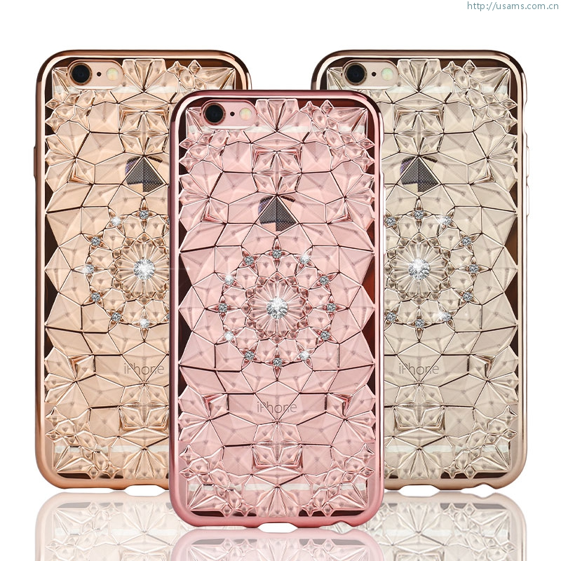 9ae632629f35 Bling Bling Cover Grace Series iPhone 6S 6 Back Case Silicon TPU Soft  Crystal Diamond Case